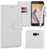 White Case Cover Pouch For Samsung Galaxy J5