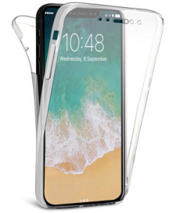 360° Front & Back Protection TPU Gel Clear Case Cover for iPhone Serie