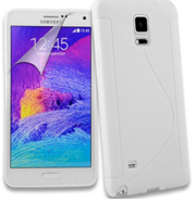 S Line Silicone Gel Case Cover for Samsung Galaxy Note 4